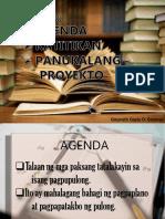 agenda, panukalang proyekto, katitikan