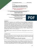 A study on Employee Empowerment at Valgen Business Solutions Pvt. Ltd