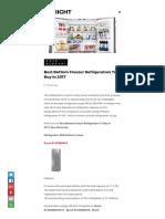 Best Bottom Freezer Refrigerators To Buy In 2017.pdf