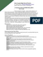 theatre fundamentals syllabus rchs