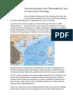 China Gas Hydrates Fields