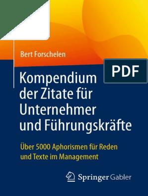 Bert Forschelen Auth Kompendium Der Zitate Für
