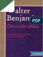 Direccion Unica - Walter Benjamin
