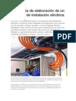 Secuencia de Elaboración de Un Proyecto de Instalación Eléctrica