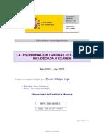 Discriminación Laboral de La Mujer- Universidad de Castilla La Mancha