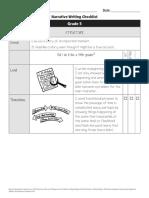 5th Grade Checklist Narrative