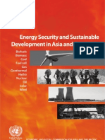 Energy Security and Sustainable Development in Asia and the Pacific - UN ESCAP