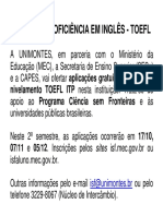 Cartaz TOEFL 2