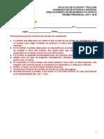 Formato prueba de constatación - FILOSOFÍA - LAR 1° 2016