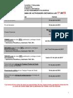 Cronograma Lar 1º 2015