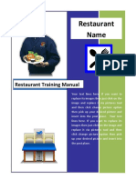 Restaurant Manual Template