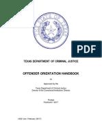 Offender Orientation Handbook English