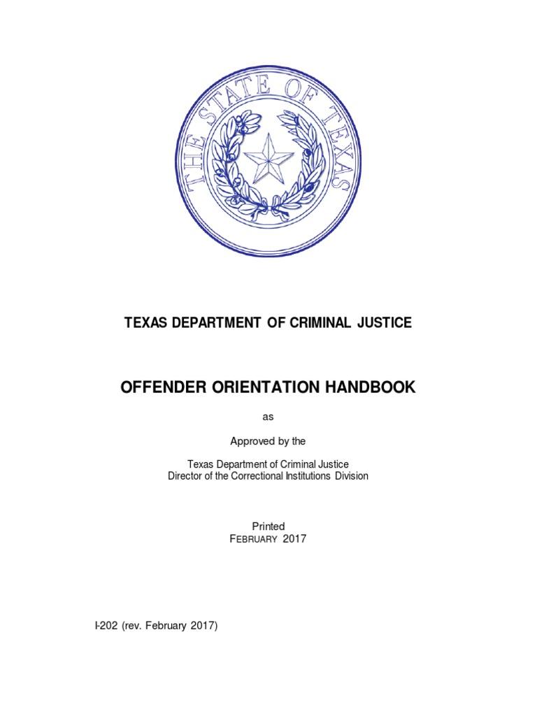 Offender Orientation Handbook English | Prison | Solitary