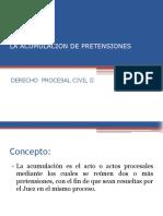 LA ACUMULACION DE PRETENSIONES ii.ppt