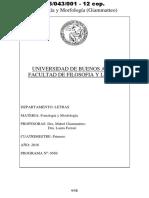 05043001 Programa 2016 - Fonología y Morfología (Giammateo)