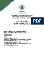 Programa Epistemología II-2014