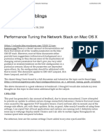 Performance Tuning the Network Stack on Mac OS X
