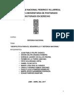 Geopolitica Para El Desarrollo y Defensa Nacional