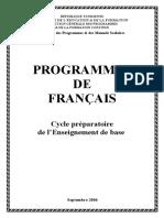 Francais Cycle Preparatoire