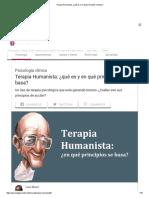 _Terapia Humanista_ ¿Qué Es y en Qué Principios Se Basa
