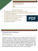 Normalización y Formatos para trazos en gabinete