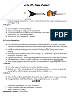 guitar final project assignment sheet
