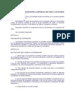 Tratado de Extradición Entre La República Del Perú y Los Estados Unidos de América