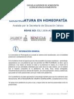 Licenciatura en Homeopatia 2017