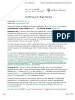Approach to the Adult With Interstitial Lung Disease Diagnostic Testing UpToDate
