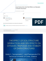 The Effect of Soil-Structure Interaction and Site