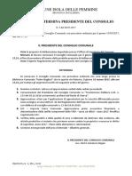 2017 9 Marzo Bologna Sindaco Convocazione Consiglio Comunale 15 Marzo 2017 Cimitero Documento-103591