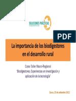 Importancia Biodigestores Robert Cotrina