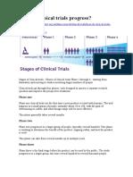 How Do Clinical Trials Progress