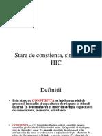 Constienta, Coma Somn 2015-16