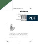KX-TG72xxTW Operating Instructions (Eng)