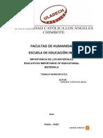 Importancia de Los Materiales Educativos Importance of Educational Materials