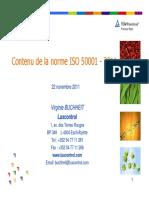 Contenu de La Norme ISO 50001