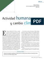 Actividad Humana y cambio climatico