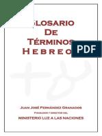 Glosario de Terminos Hebreos