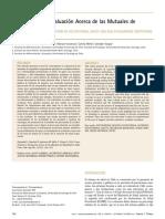 Conocimiento y Evaluación Acerca de Mutuales