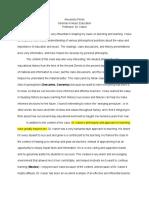 seminar overall class reflection - processfolio