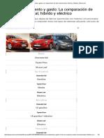 Precios, Rendimiento y Gasto_ La Comparación de Auto Convencional, Híbrido y Eléctrico _ Emol