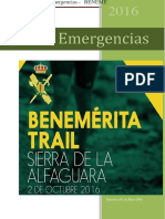 Plan de Emergencias Benemerita Trail 2016