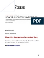 Stephen Greenblatt -- How St. Augustine Invented Sex