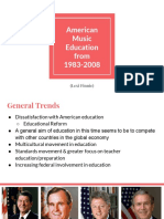 american music education from 1983-2008