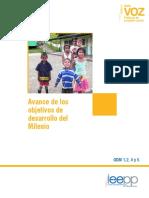 Avances Objetivos Desarrollo Milenio