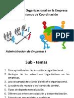 La Estructura Organizacional en La Empresa