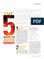 5 Maneras de Prevenir Burnout