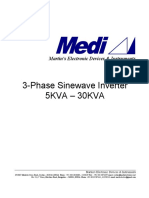 Three Phase Inverter Specification