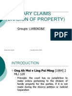 Ancillary Claim-Division of Property